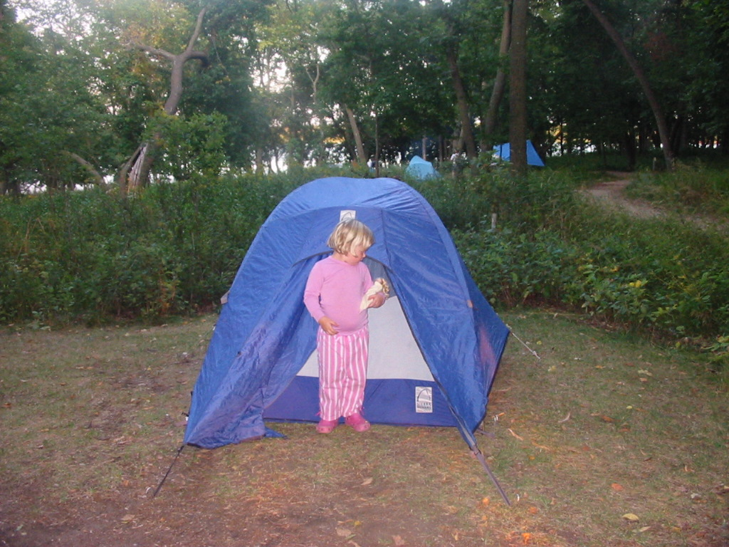 lydia by tent